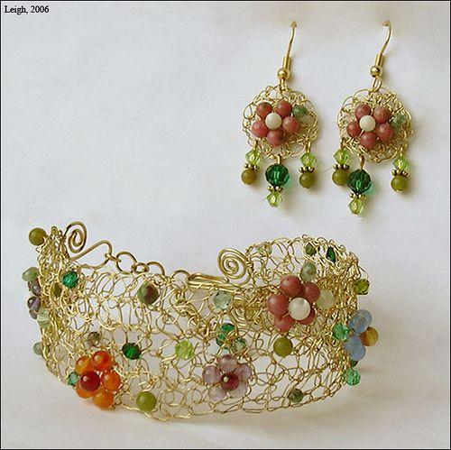 Ravelry: Leigh's Crochet Bracelet & Earrings