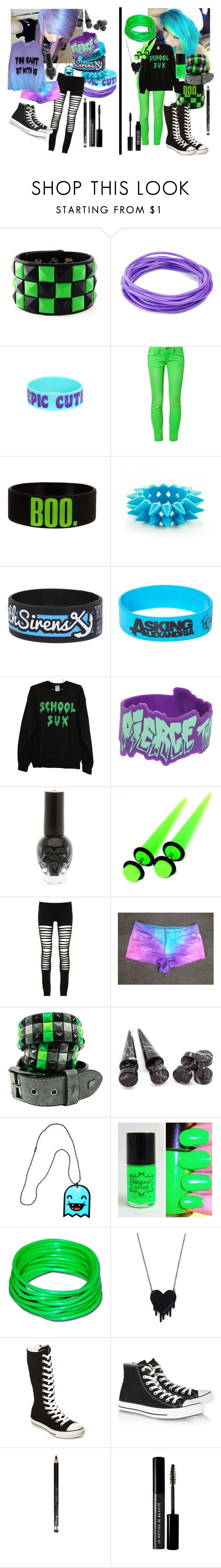 """""""best friends <3"""" by xxxxsourxxxx ❤ liked on Polyvore featuring One Green Elephant, Maurie & Eve, Alex and Chloe, Converse, Rimmel, Le Métier de Beauté and Lord & Berry"""