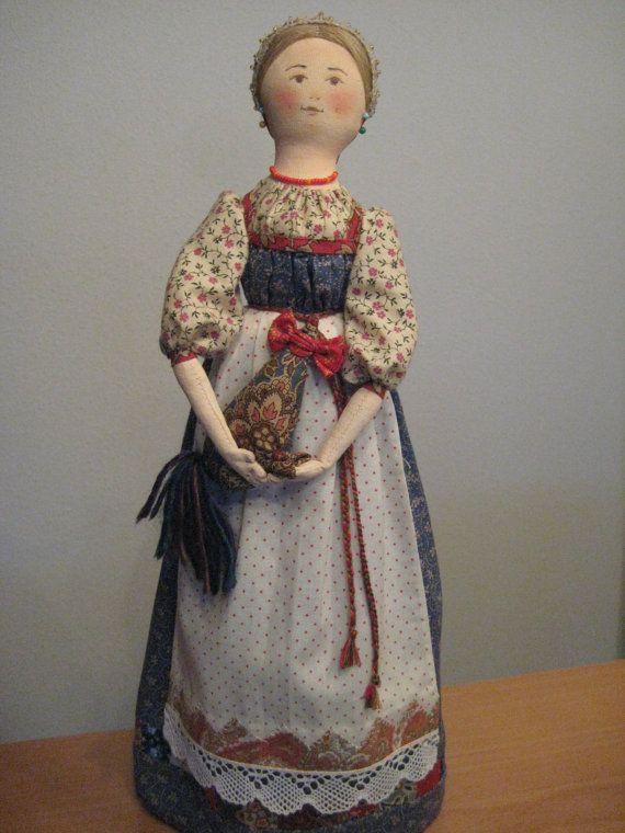 Авторская текстильная интерьерная кукла Васелина. от TinaVanDijk