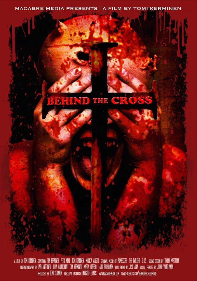 behind the cross