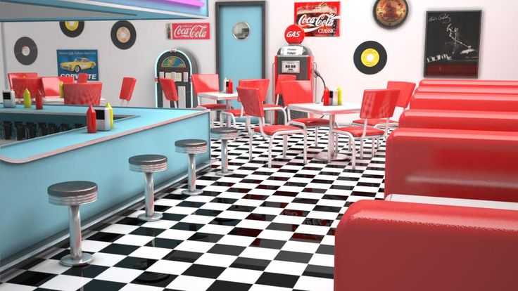 50's diners | 50's Diner by Giles Farmer