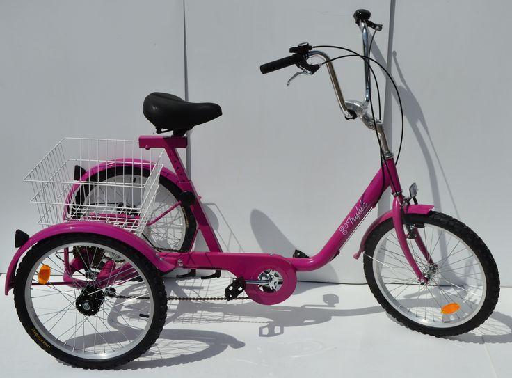 Rower trójkołowy różowy trybk