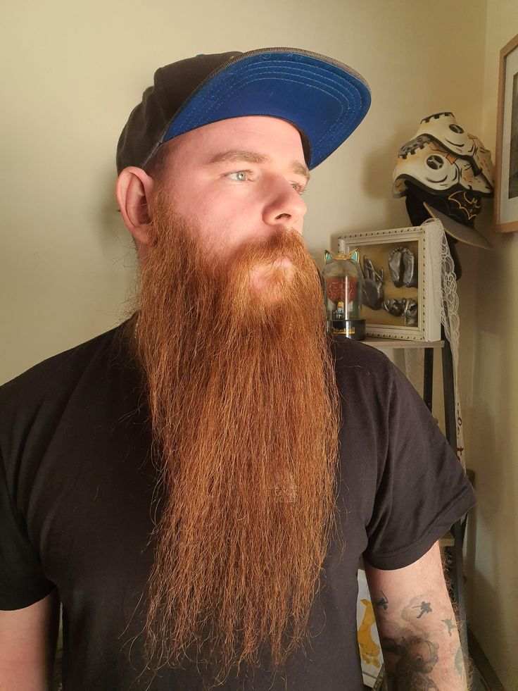 Thought i might straighten my beard just to see what it