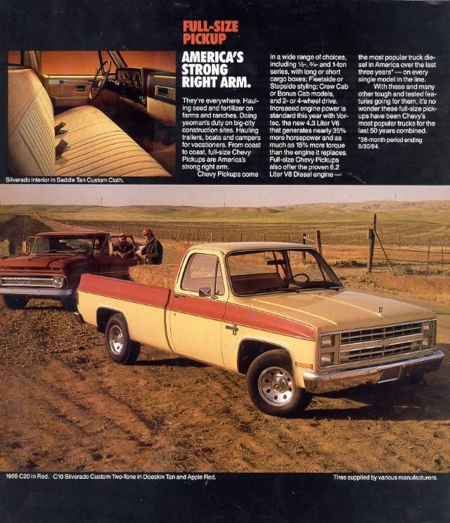 230 best sqaurebodies images on pinterest chevy trucks gm 1985 chevy silverado custom two tone in doeskin tan and apple red sciox Image collections