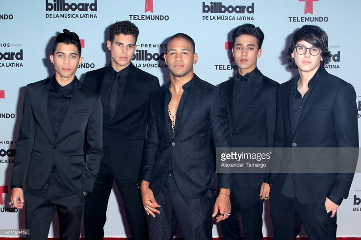 CNCO attend the Billboard Latin Music Awards at Watsco Center on April 27, 2017 in Coral Gables, Florida.