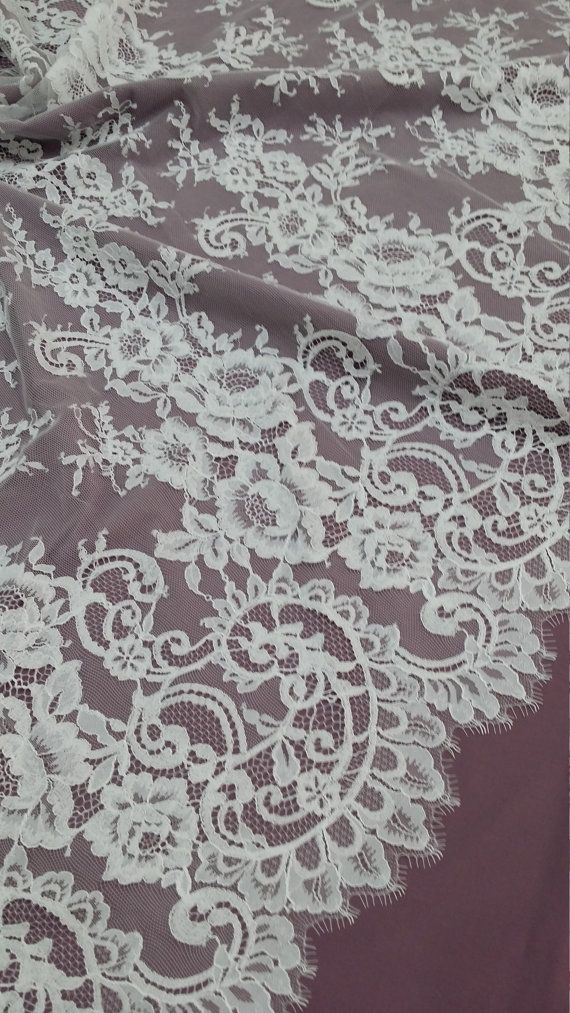 Off white color lace fabric.  Both sides scalloped. Width: 78 cm/30.7 inches Item number: L423020  Price is set for one meter/yard. You will receive the fabric in one continuous piece if you purchase more than 1 meter/yard.  IMPORTANT! Maximum one piece length of this lace is 2.60 meters/yards. If you buy more than 2.60 meters/yards of this lace you will receive it in several pieces.  If you need a different amount, please contact us.  We offer special discounts for d...