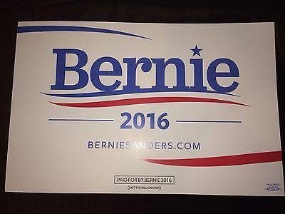 Bernie Sanders: Bernie Sanders Senator Vermont 2016 President Campaign Sign Placard White BUY IT NOW ONLY: $15.0