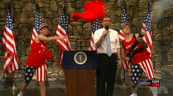 Loudmouth's Stars & Stripes pants featured on an SNL skit! #SNL #SaturdayNightLive #LoudmouthGolf #LoudmouthNation #Stars&Stripes #FourthofJuly #RedWhiteBlue