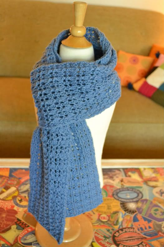 Free Reversible Scarf Knitting Patterns : Reversible rib & lace scarf Crochet Womens Cowls, Scarves & Sh...