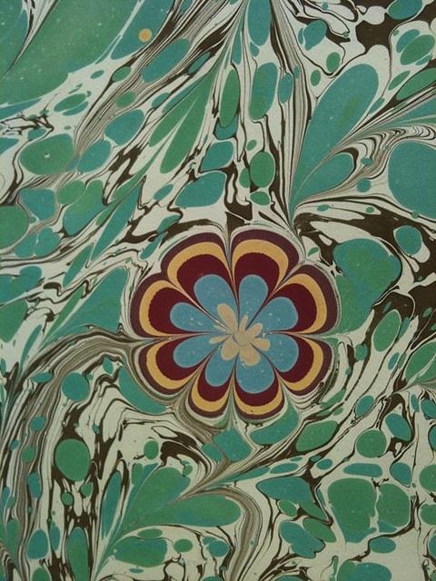 ebru flowers by Miss Marbling, via Flickr