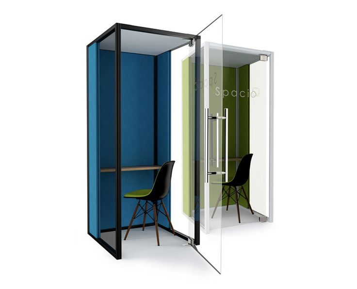 Spacio Lite Phone Booth is a single user acoustic privacy booth for private calls in the office.