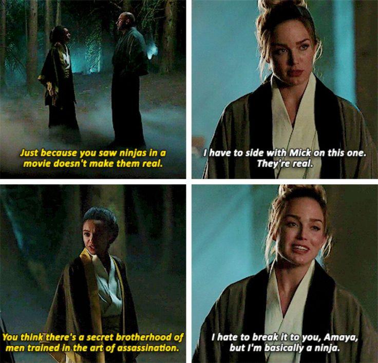 """I hate to break it to you, Amaya, but I'm basically a ninja"" - Sara, Amaya and Mick #LegendsOfTomorrow"