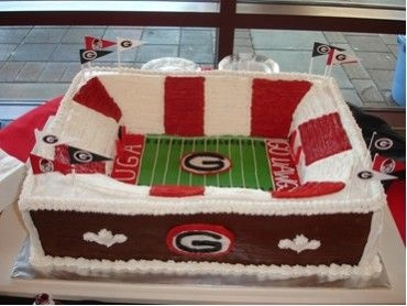 University of Georgia Groom's Cake By satgirlga on CakeCentral.com