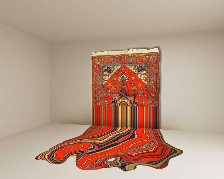 Faig Ahmed's Hand-Woven Azerbaijani Rugs installation