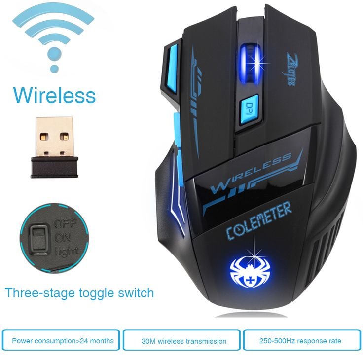 Super Hot Wireless Mouse Gamer Game Mouse Optical 2400DPI 2.4G Computer Mouse ECHTPower Nighthawk F14 LED 7D Gaming Mice