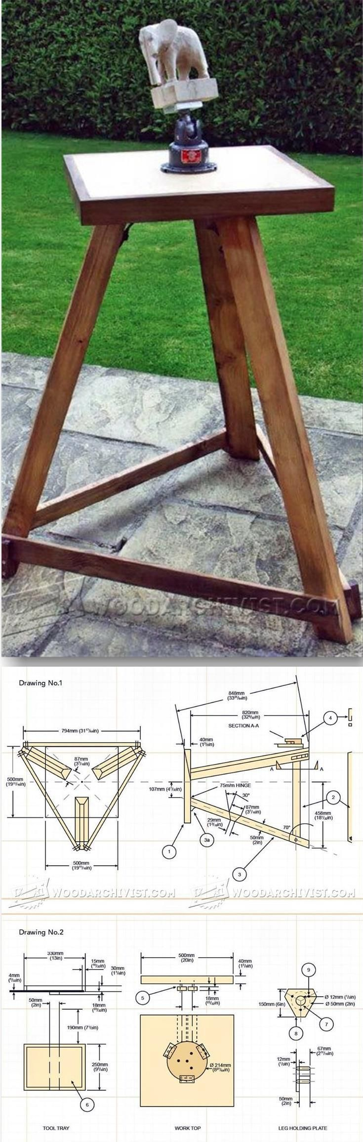 Wooden horse patterns - Portable Carving Bench Plans Wood Carving Patterns And Techniques Woodarchivist Com