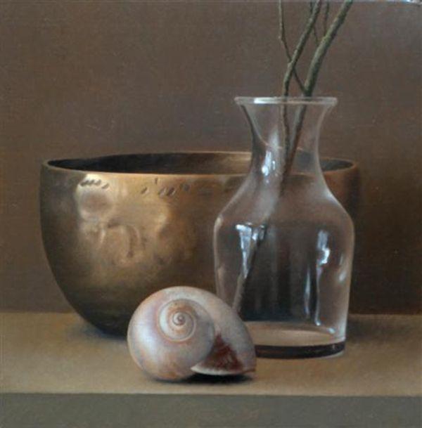 Pintura a óleo sobre tela de David Gray