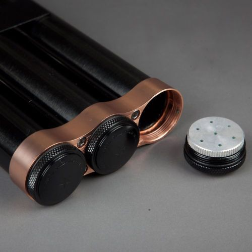 COHIBA-Black-Alloy-Cigar-Humidor-Holder-3-Tube-Travel-Case-With-Humidifier