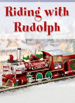 It just wouldn't be Christmas without Rudolph the Red-Nosed Reindeer. Here's your one-way ticket to Christmas Town aboard this Rudolph electric train collection. Meet Sam the Snowman, Yukon Cornelius and the Abominable Snowman along the way.