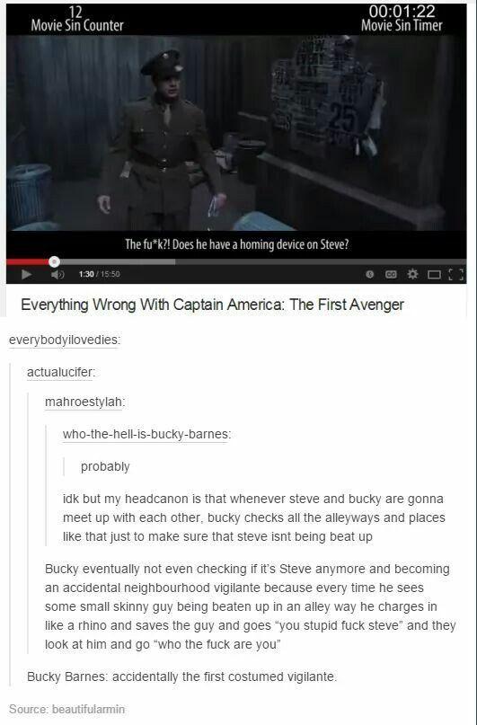 Bucky Barnes: accidentally the first costumed vigilante