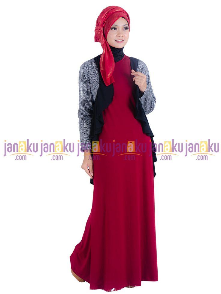 Vannara 1113316 - Busana muslim dengan bahan kaos jersey, dipadukan katun stretch kombinasi katun polos