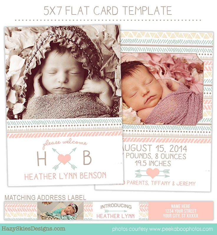 71 best images about birth announcement templates family photography templates on pinterest