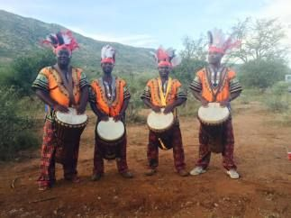 Traditional Ghana drummers