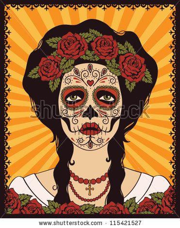 Sugar skull girl by rvvlada, via ShutterStock