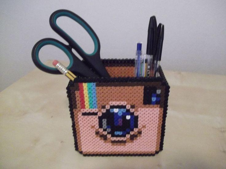 Instagram inspired perler bead box by capricornc5 on deviantart