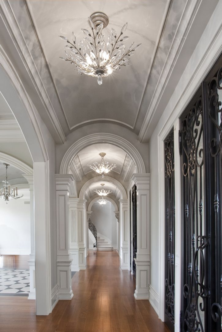 Love Love Love The Shape Of The Ceilings And Arched Foyer