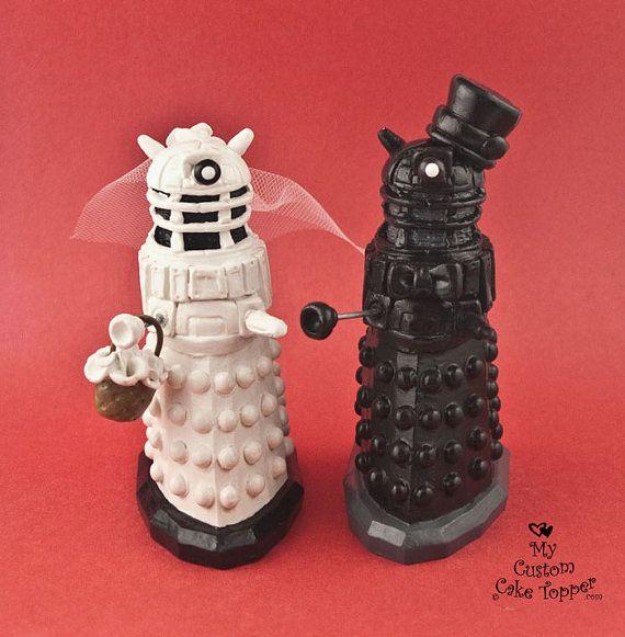 Topper de la torta del Daleks de Dr. Who