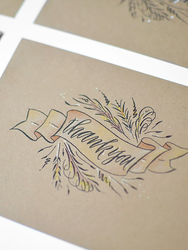 25  best ideas about Thank you card design on Pinterest ...