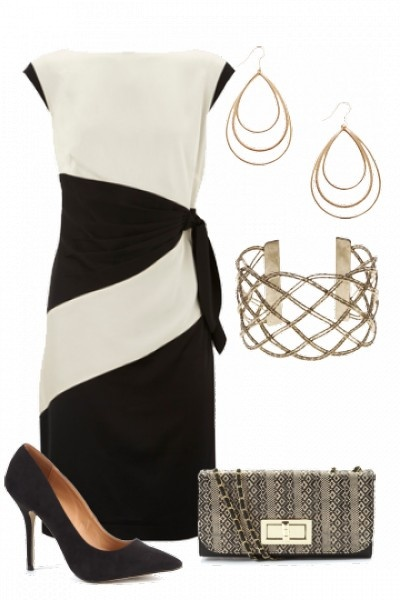 Love this dress for work...forget the accessories though.