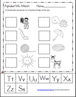 Maggie's Kinder Corner: Here they are! The last two of my Alphabet Mix-Match FREEBIES!