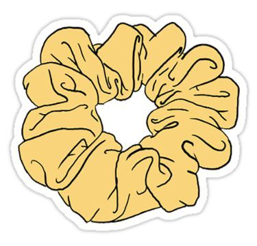 Yellow Scrunchie Sticker In 2019 Products Stickers Aesthetic
