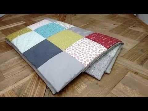 Tutoriales patchwork: Como terminar una colcha sin bies muy rápido - YouTube