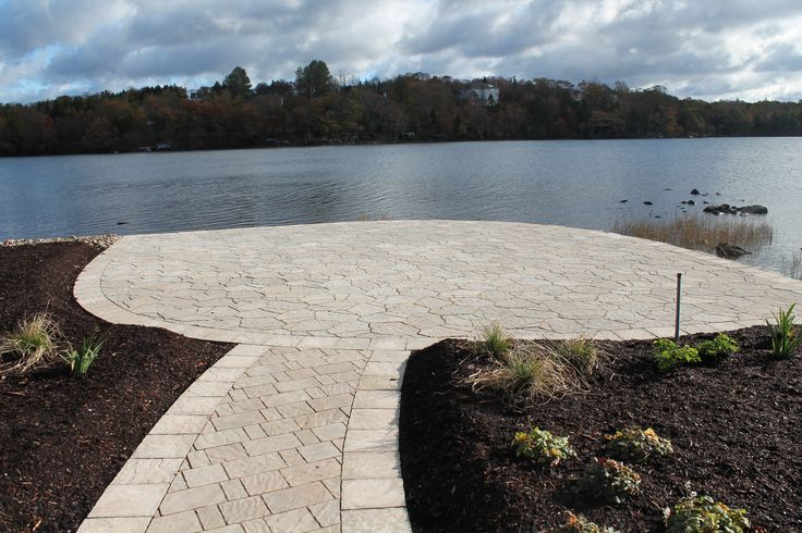 Mega Arbel Pavers are perfect for your lake side patio. Come into any one of our 4 locations today in Bedford, Dartmouth, New Minas and Moncton. Or visit our website www.bergmans.ca