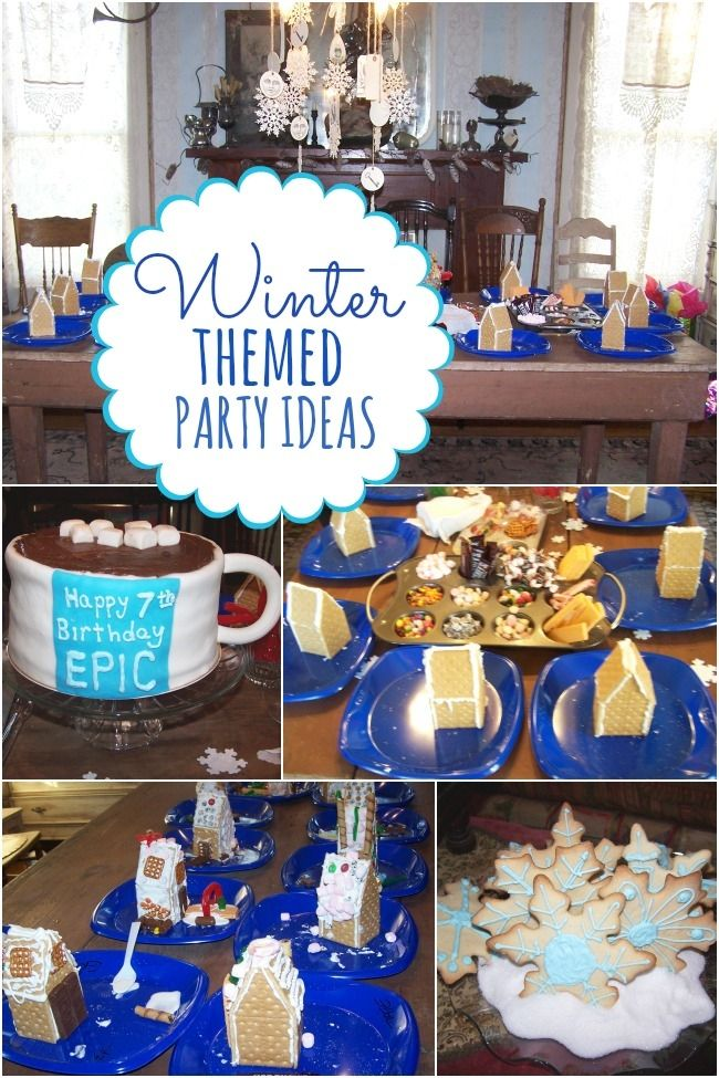 Boy's Winter Themed 7th Birthday Party - Spaceships and Laser Beams