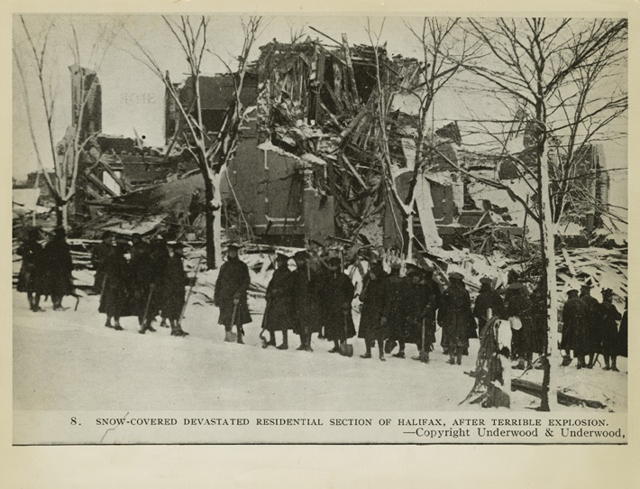 Halifax Explosion Nova Scotia Canada 1917  About 2000 people killed