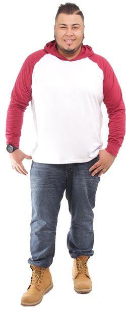 Camiseta com capuz  plus size