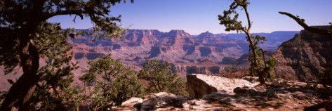 Mountain Range, Mather Point, South Rim, Grand Canyon National Park, Arizona, USA Photographic Print at AllPosters.com