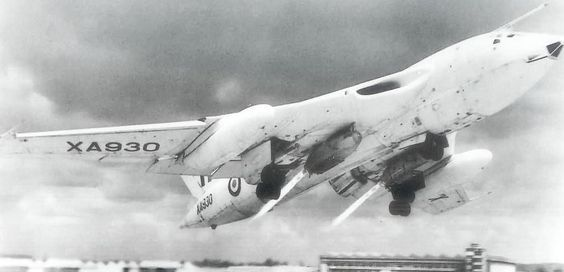 Eyes to the Skies — Handley Page Victor taking off with the help of...
