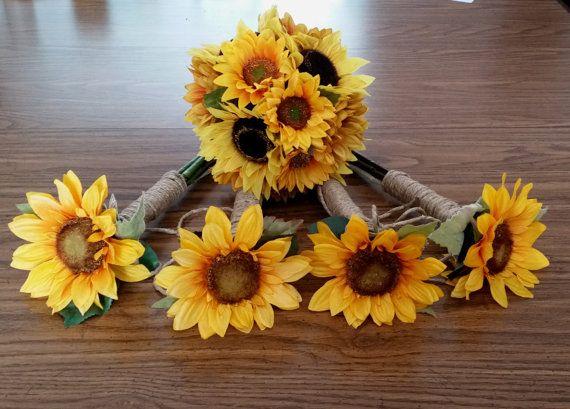 The 25 best sunflower bridal bouquets ideas on pinterest sunflower bridal bouquet package budget by budgetweddingbouquet junglespirit Image collections