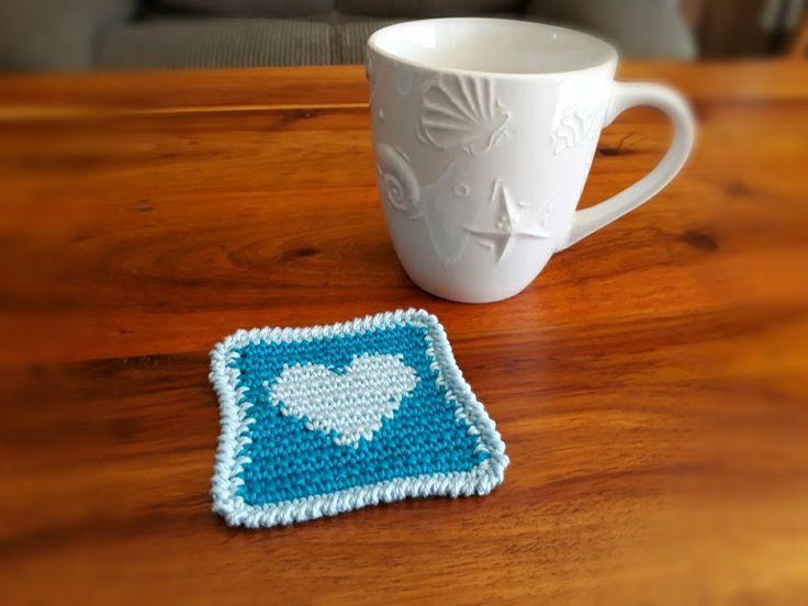 Heart Coaster – Crochet Creations