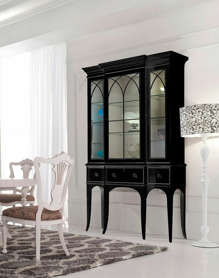 Well-liked 96+ Black Dining Room China Cabinet - Black Painted Small Antique  LS42