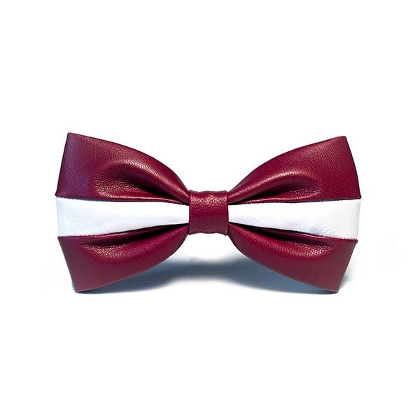 Girts Urbacans Collection: Bow Tie in LATVIA flag colors and pattern