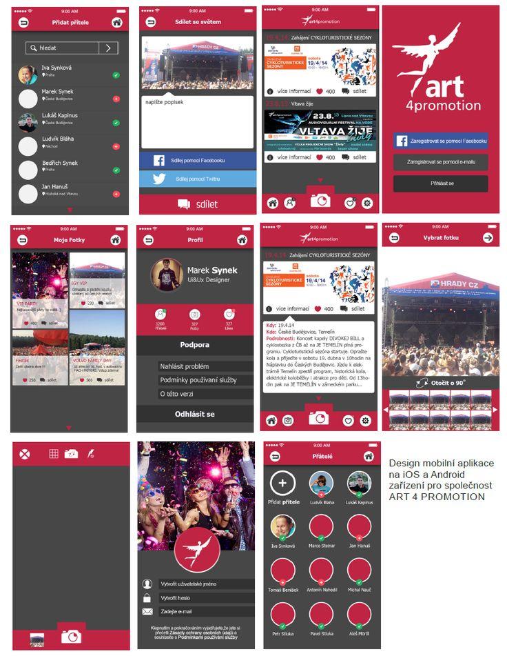 Grafik návrh UI a UX Designu aplikace pro iOS a Android a webstránek