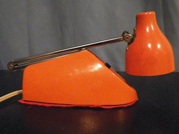 Retro Orange Desk Lamp by DesertBlossomVintage on Etsy, $15.00