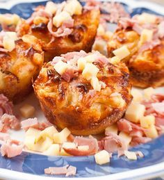 Recetas para fiestas infantiles: Muffins salados de jamón y queso
