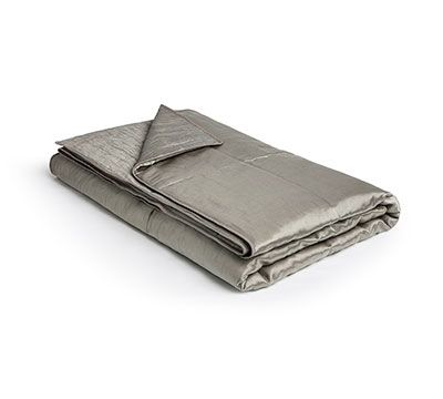 Mrs.Me home couture|Gloss viscose linen| Bed-end spread Grand Pyrite